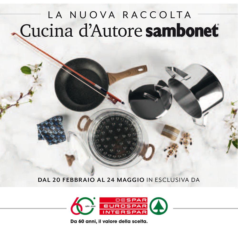 Cucina d'Autore Sambonet - Nuova raccolta Eurospar dal 20 febbraio al 24 maggio 2020