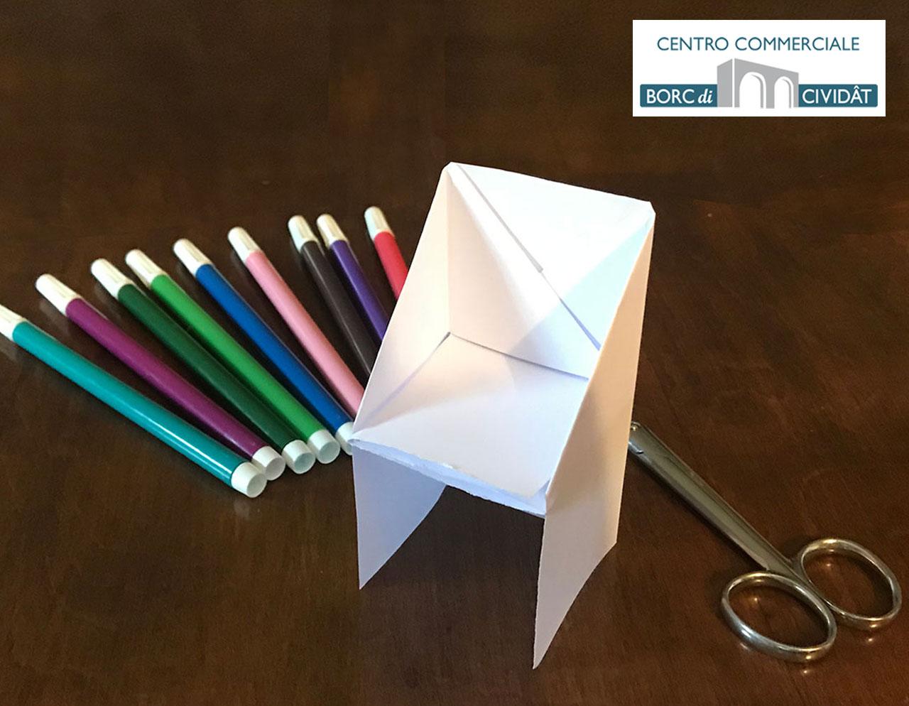 Gioca con noi - La poltroncina di carta! - Centro Commerciale Borc di Cividât