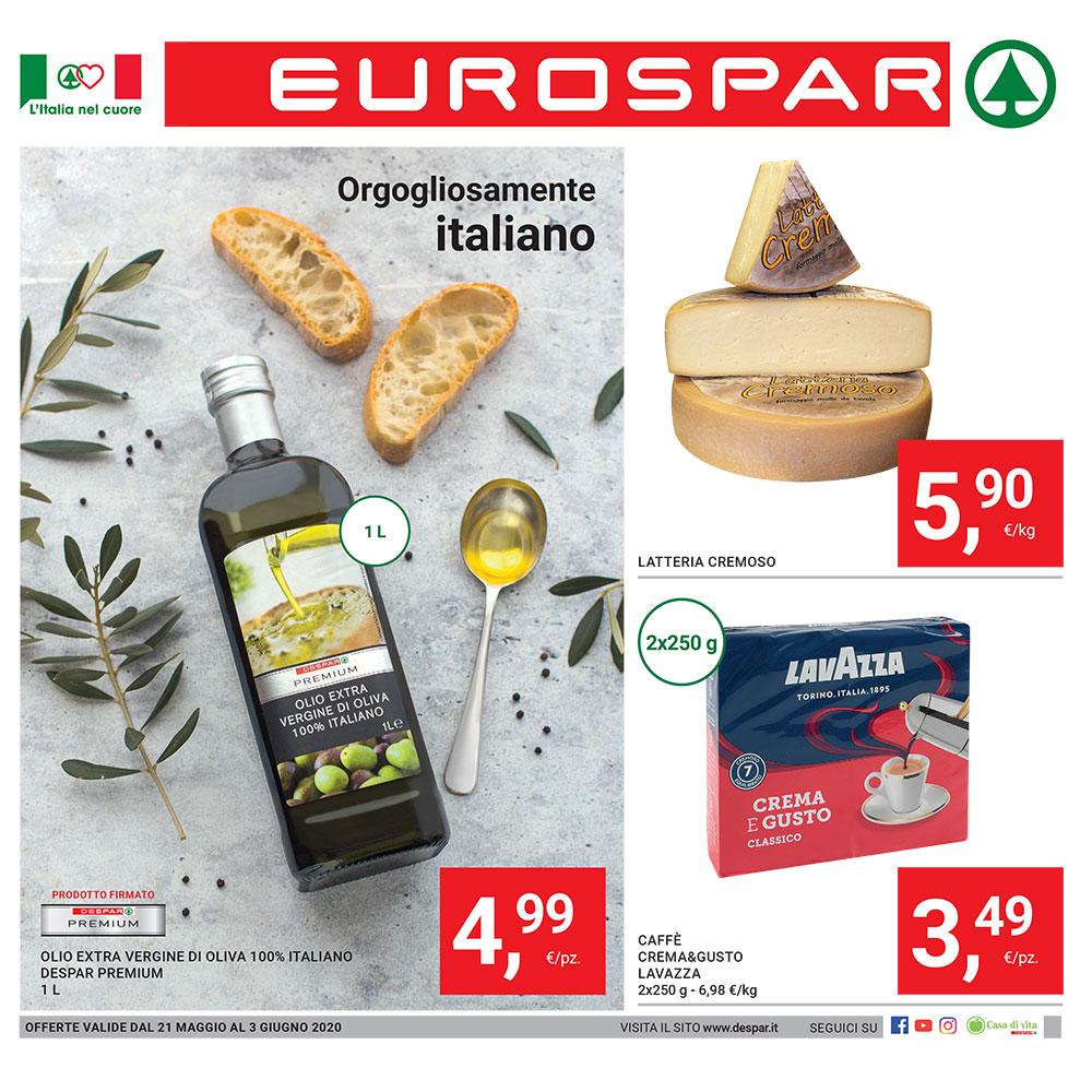 Promozione Eurospar - Orgogliosamente italiano - Dal 21 maggio al 3 giugno 2020