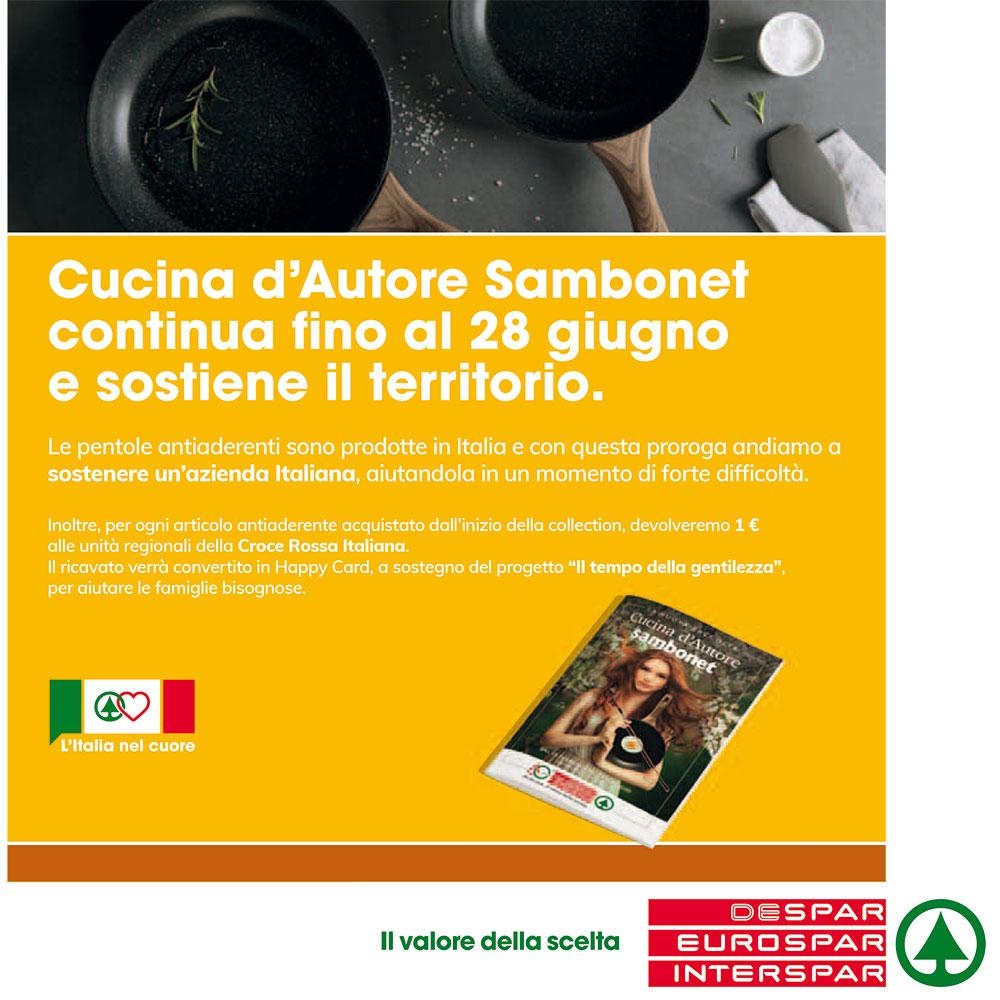 Nuova raccolta Eurospar - Cucina d'Autore Sambonet - Dal 20 febbraio al 28 giugno 2020