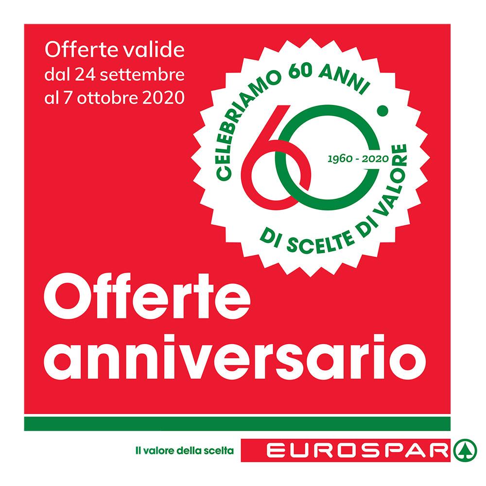 Promozione Eurospar - Offerte anniversario - Valida dal 24 settembre al 7 ottobre 2020