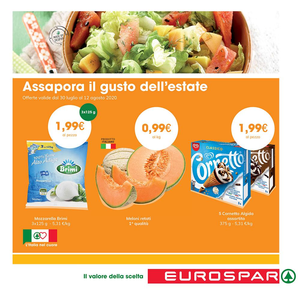 Promozione Eurospar - Assapora il gusto dell'estate - Offerta valida dal 30 luglio al 12 agosto 2020