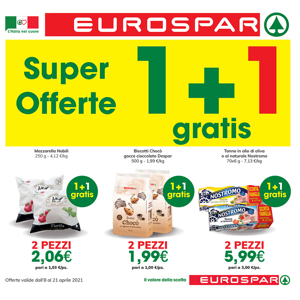 Promo Eurospar - SUPER OFFERTE - Valida dall'8 al 21 aprile 2021