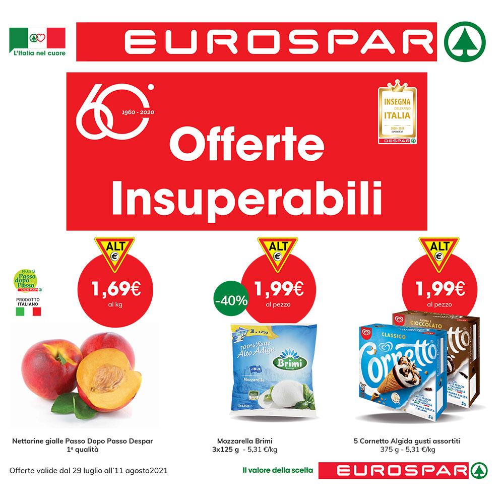 Promo Eurospar Forte - OFFERTE INSUPERABILI - Valida dal 29 luglio all'11 agosto 2021
