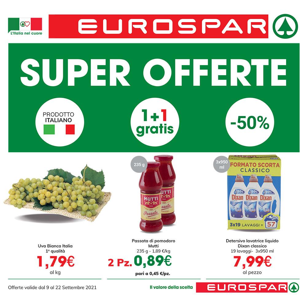 Promo Eurospar Forte - SUPER OFERTE - Valida dal 9 al 22 settembre 2021
